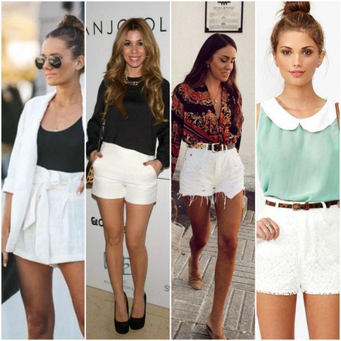 outfit con short blanco para el verano