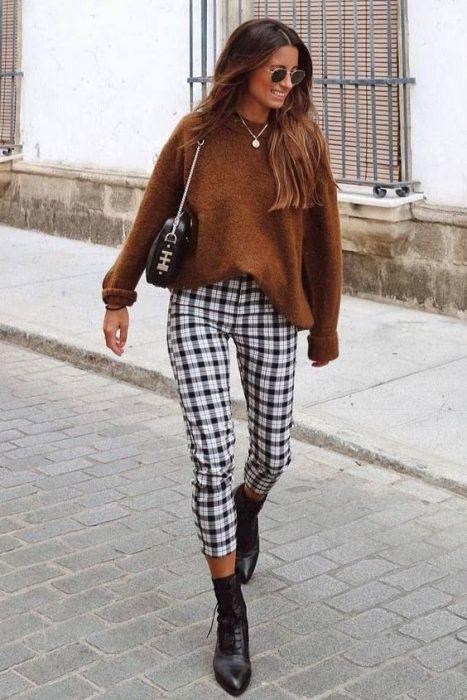 pantalon a cuadros invierno