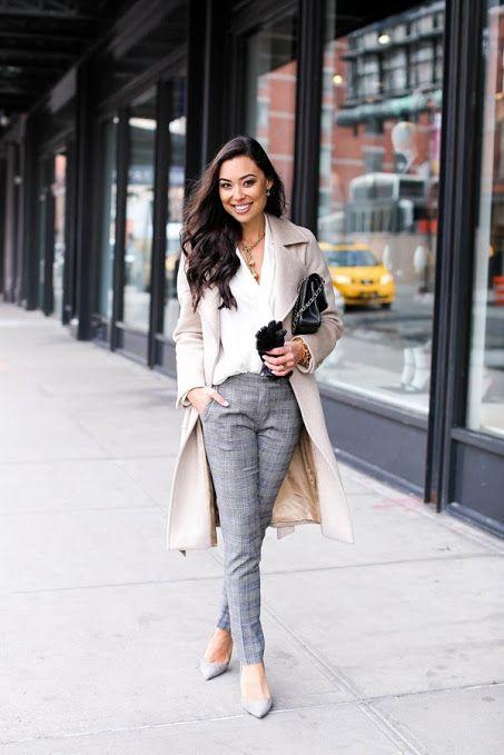 Como Combinar Un Pantalon A Cuadros Outfits Mujer 2021 Muy Trendy