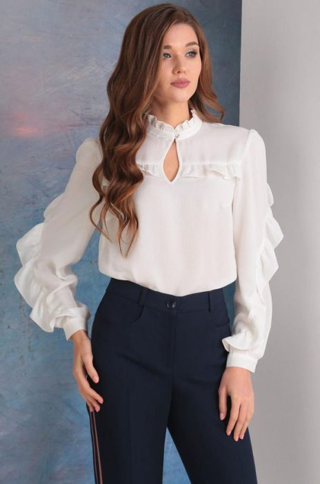 blusa con boton en cuello