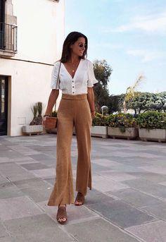 look noche verano con pantalon de lino