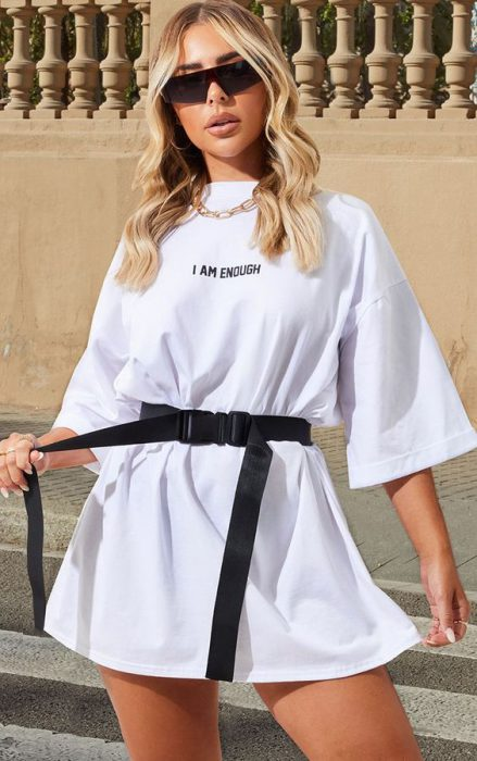 usar remeron con cinto de vestido