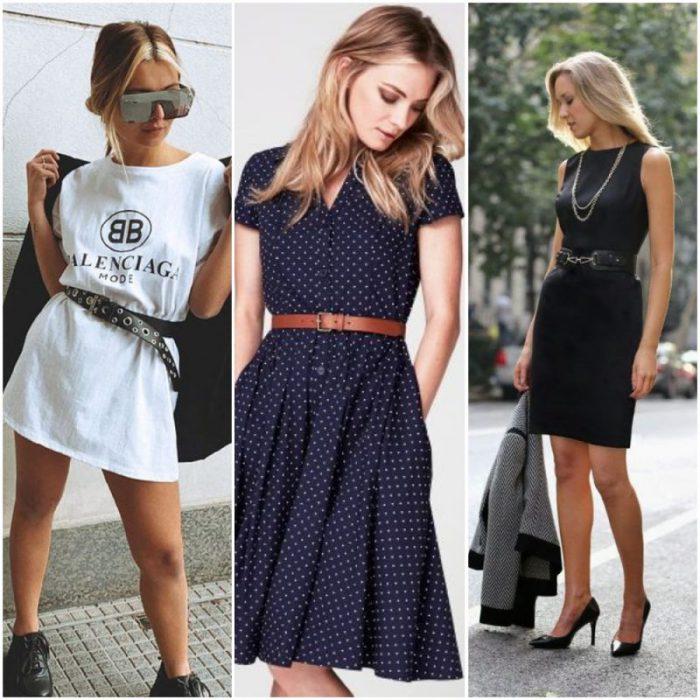 usar vestido con cinto