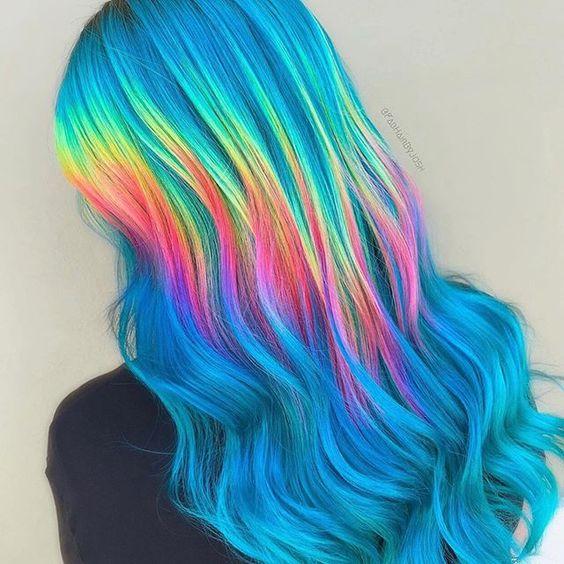cabello holografico neon