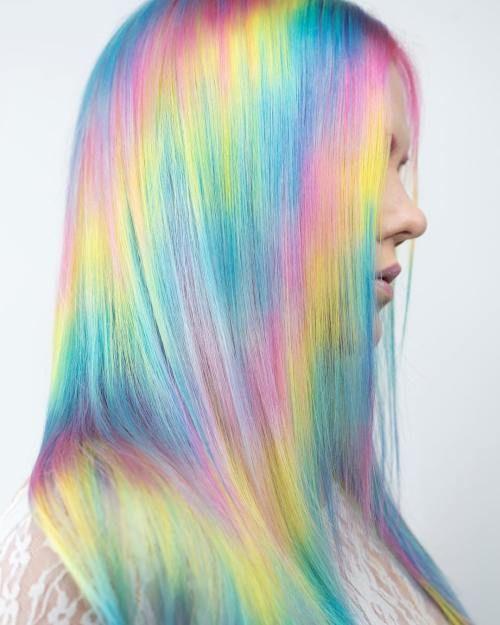 cabello holografico pastel