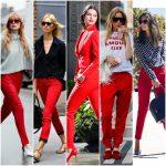 combinar un pantalon rojo