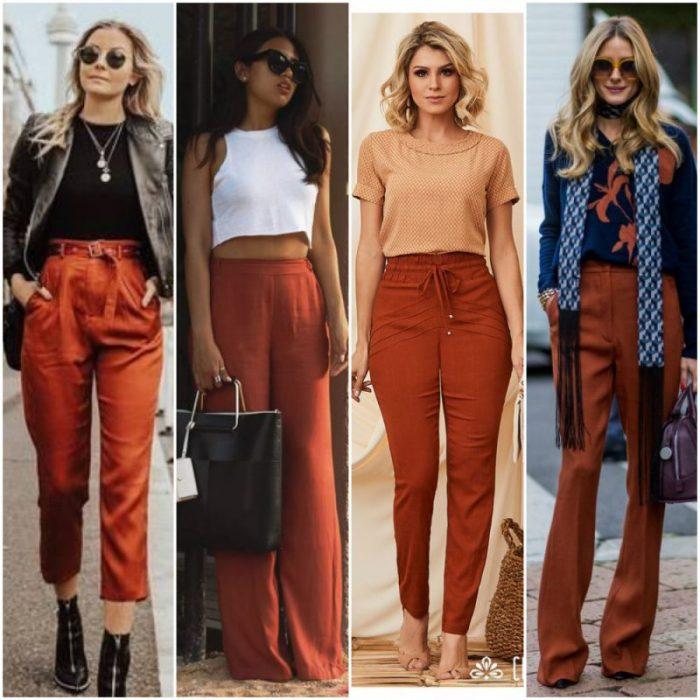 Como Combinar Pantalones Color Ladrillo O Terracota 2021 Muy Trendy