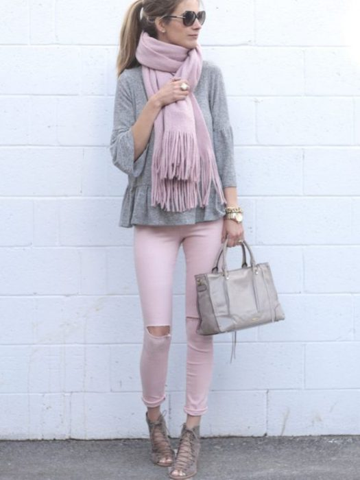 jeans rosa invierno