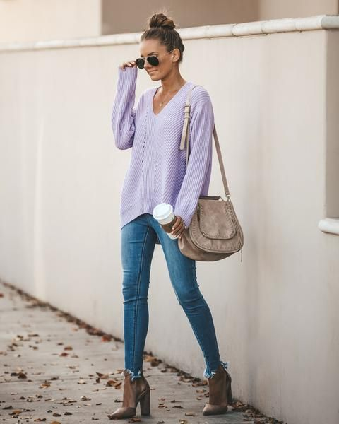 jeans y lila
