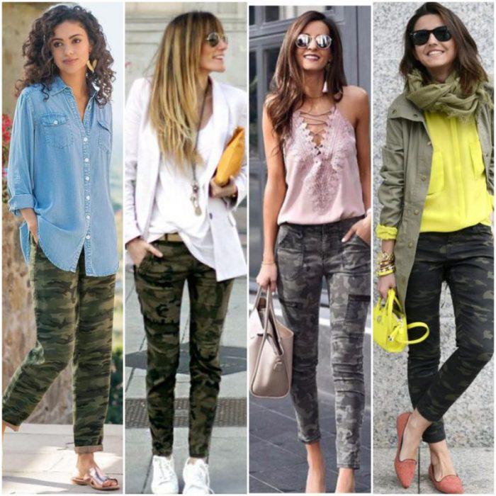Como Usar Pantalones Camuflados Para Mujer 2021 Muy Trendy