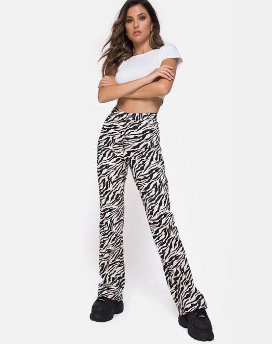 look pantalon cebra verano