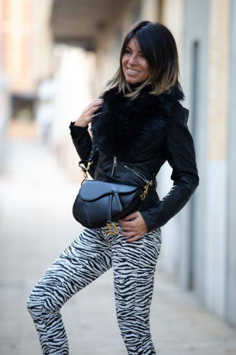look urbano pantalon cebra invierno