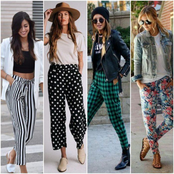outfit casual con pantalon tipo pijama