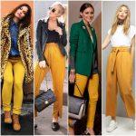 outfit pantalon amarillo mostaza