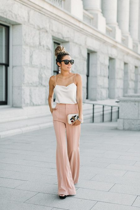 pantalon de vestir rosa palido