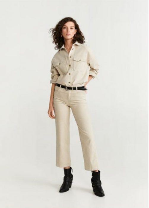 camisa crudo con pantalon capri crudo 1