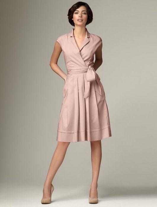 look formal con vestido cruzado
