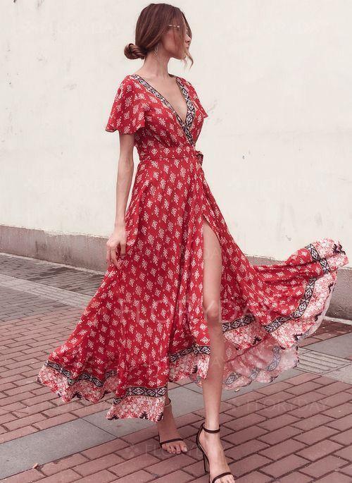 maxi vestido cruzado juvenil
