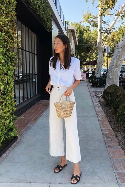 panalon lino crudo con camisa blanca