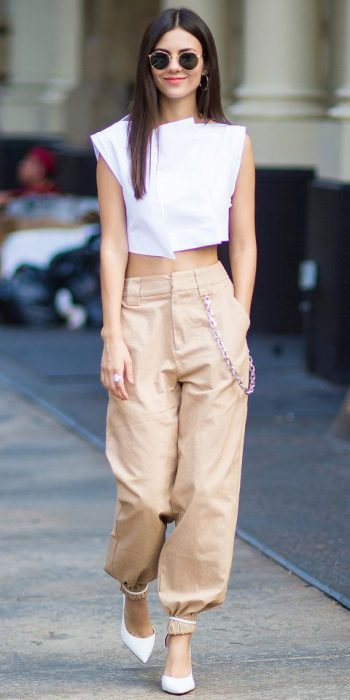 pantalon cargo con top
