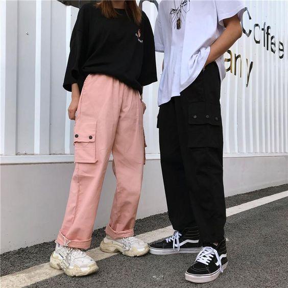 pantalon cargo rosa y remeron