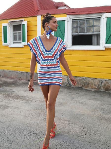 vestido a crochet colores verano