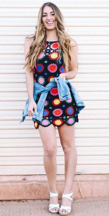 vestido a crochet para el verano