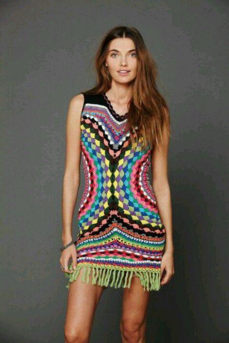 vestido a ganchillo colores