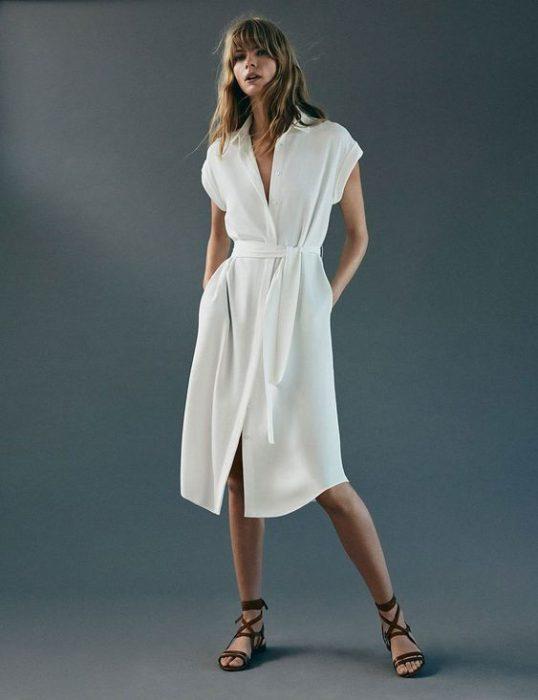 vestido camisero informal trench 1