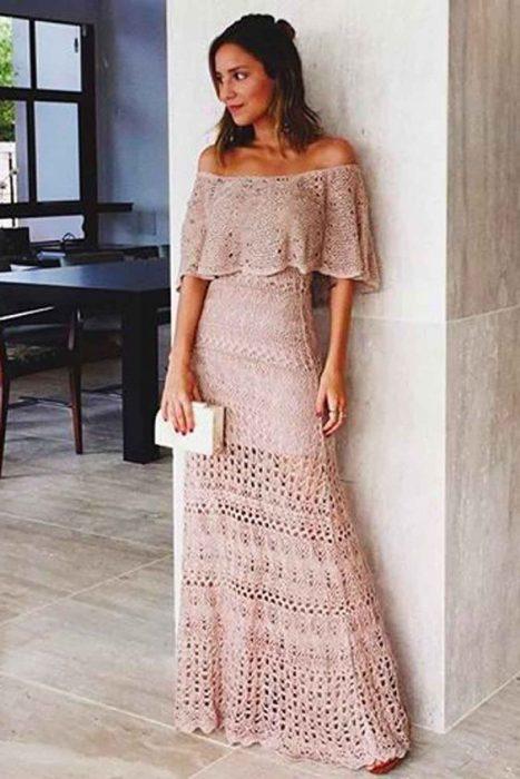 vestido crochet largo