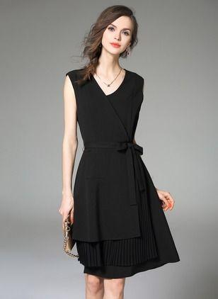 vestido cruado formal negro
