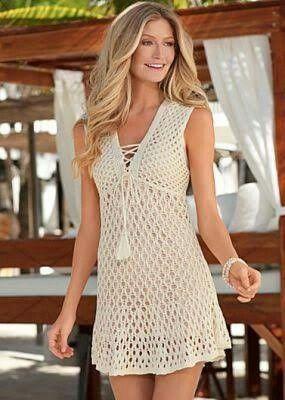 vestido crudo corto