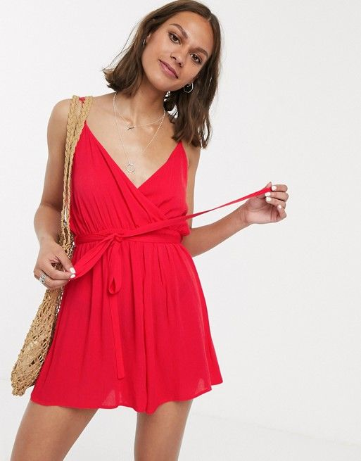 vestido cruzado corto
