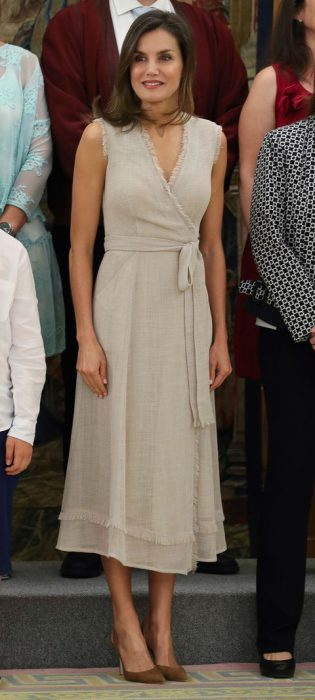 vestido cruzado para senoras de lino