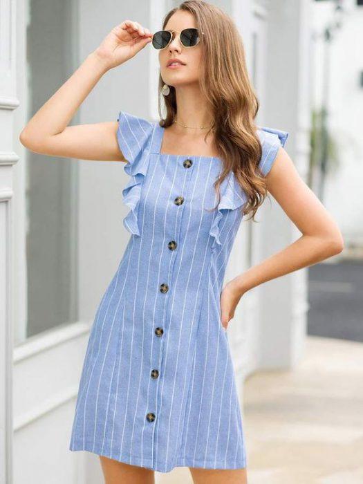 vestido de lino casual
