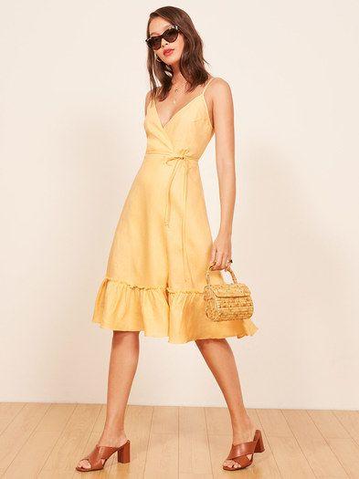 vestido de lino para ir a una cena s