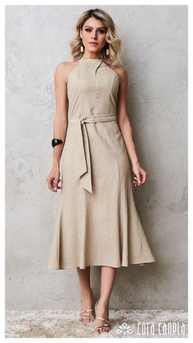 vestido de lino para una cena elegante