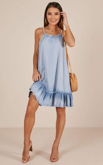 vestido denim para el verano