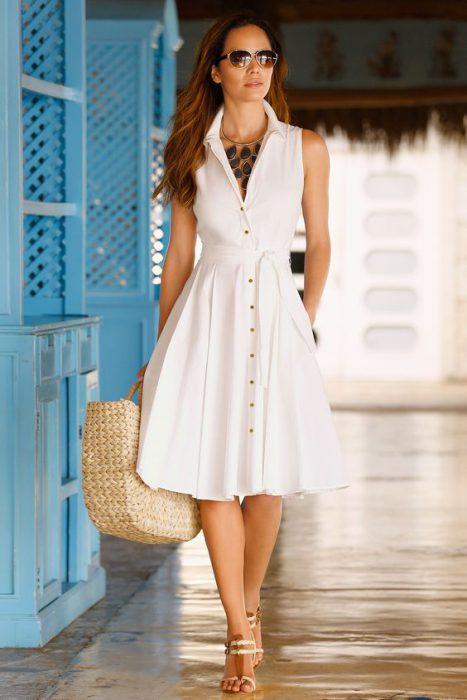 vestido informal camisero