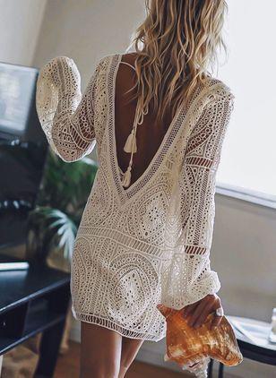 vestido tunica corto crochet
