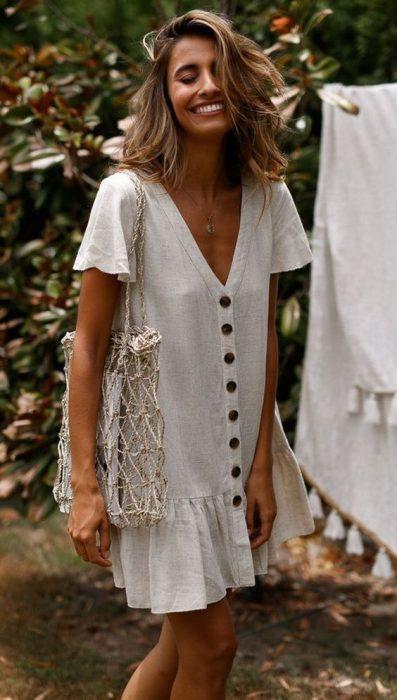 vestidos frescos para la playa lino