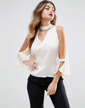 blusa de seda hombros descubiertos
