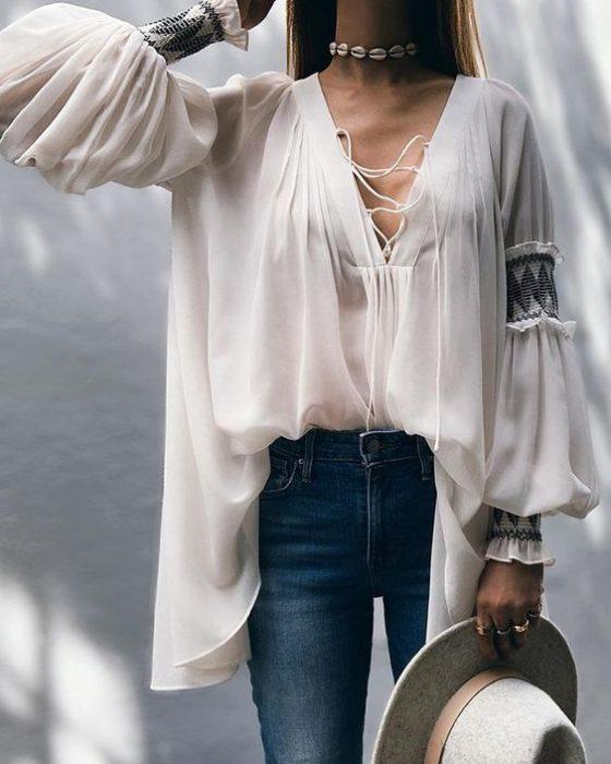 blusa holgada juvenil