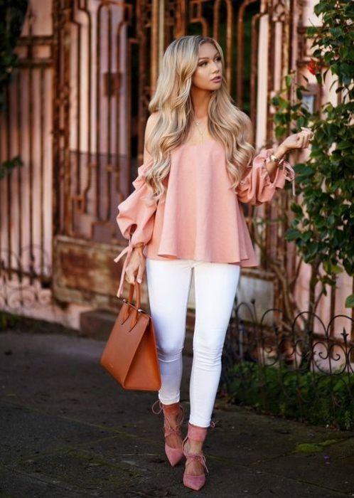 blusa holgada rosa