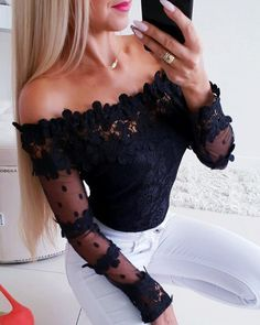 blusa hombros descubiertos ajustada
