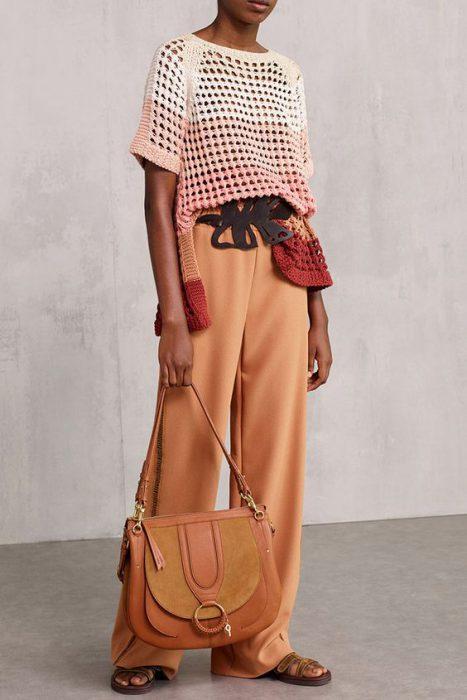 remera tejida a crochet look moderno y elegante