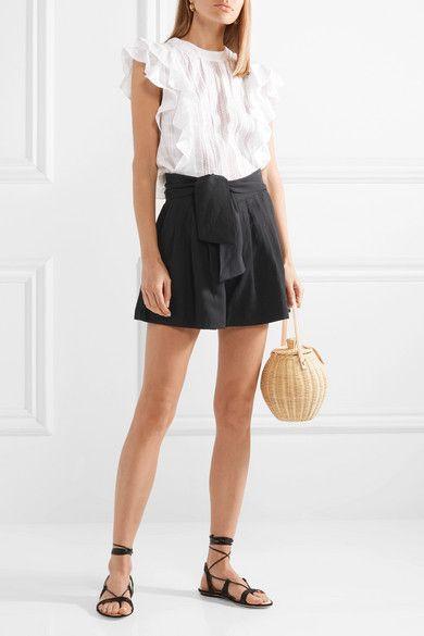 blusa y short de lino negro
