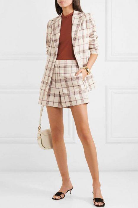 look con short y blazer formal