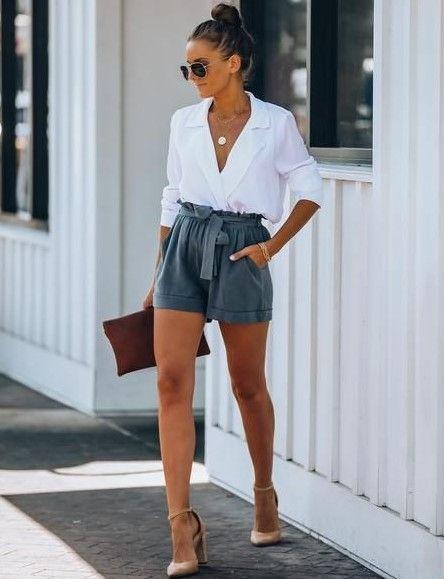 look formal con short de lino 1