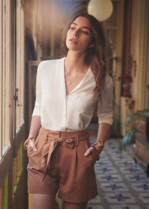 look formal con short de lino
